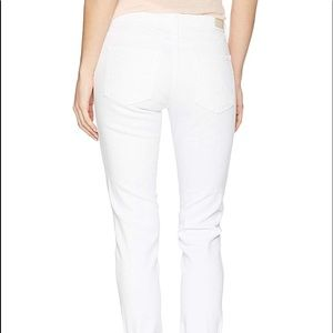 """AG """"Stevie Roll-Up straight white jeans"""